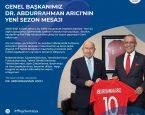 Genel başkanımız Syn. Dr.Abdurrahman arıcı'nın yeni sezon mesajı.